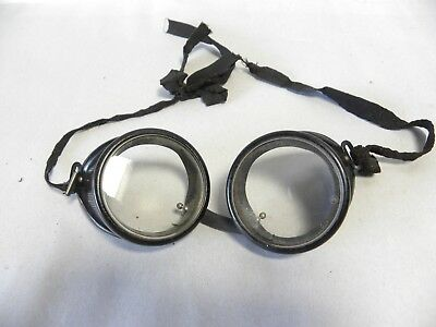 Vintage Steampunk Industrial Machine Age Motorcycle Safety Goggles Glasses (A10)