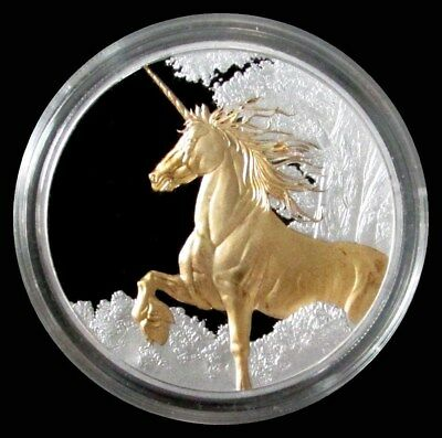 2014 Silver Tokelau $5 Dollar Golden Unicorn 1 Oz Coin