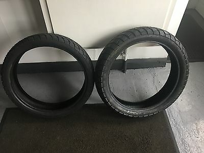 motorcycle tyres 130/70/17 and 110/70/17 New