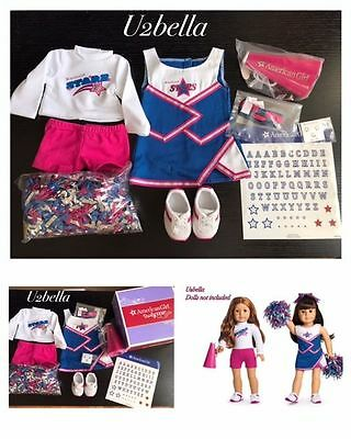 AMERICAN GIRL 2-in-1 CHEER GEAR CHEERLEADING OUTFITS FOR 18in DOLLS NEW IN BOX