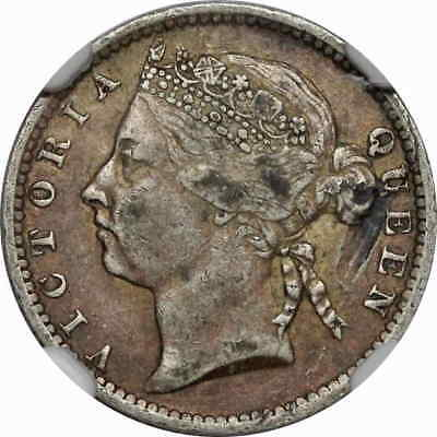 Straits Settlements, Queen Victoria Silver 10c, 1900, NGC VF Details