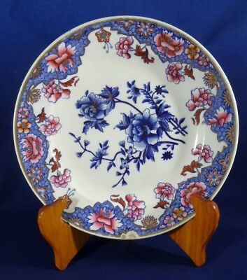 Antique Spode 200 year old Blue Pink Gold Flowers c1818 Polychrome 3091 Plate