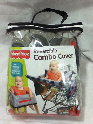 Fisher Price Reversible Combo Cover Shopping Cart & Restaurant High Chair