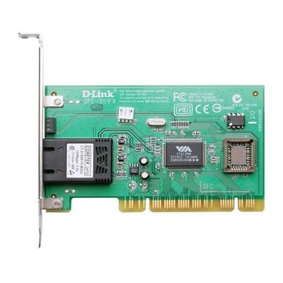 D-Link DFE-551FX - 10/100Mbps Fast Ethernet adapter with Fibre Interface - PCI