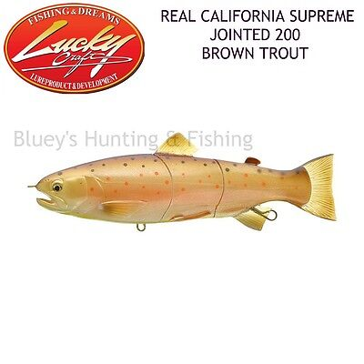 Lucky Craft Real California supreme jointed minnow 200 lure; Brown Trout