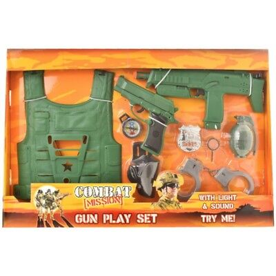 Combat Mission Army War Toy Gun Play Set With Friction Sound Kids Toys Ty820