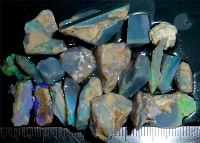 100 Cts #930 Opal Rough And Rough Rubs From Lightning Ridge Australia