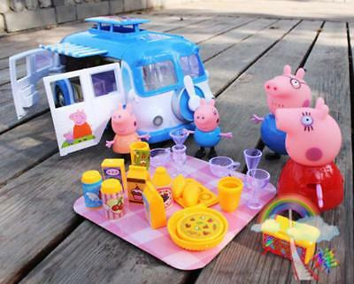 Peppa Pig Blue Car Vehicle Toy with Action Figure Peppa George Daddy Mummy toys1