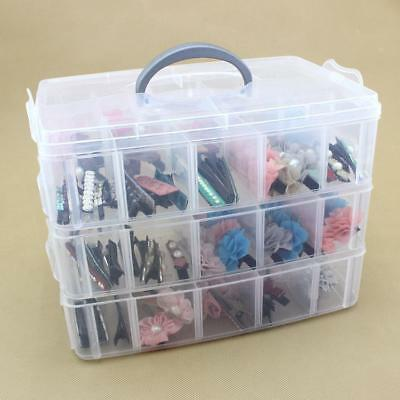 30 Compartment Clear Plastic Storage Box