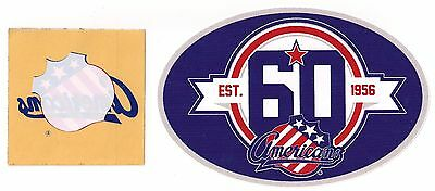 Rochester Americans AHL Vintage Decal & 60th Anniversary Sticker Lot of (2)