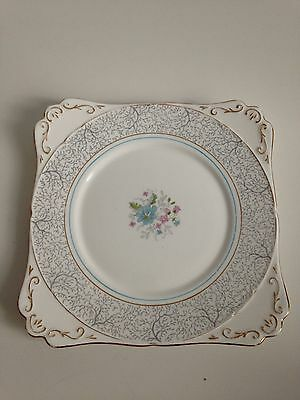 Royal Stafford Bone China Plate White Flower Detail Vintage Retro