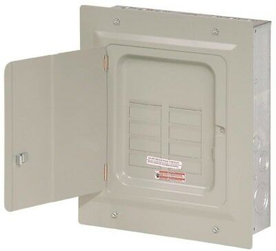 Eaton 125-Amp 6-Space 12-Circuit Indoor Load Breaker Electrical Panel Wall