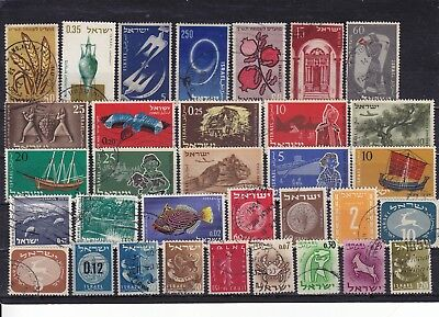 Israel stamp assortment - 1950's & 1960's