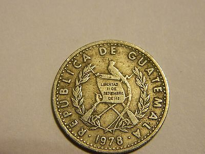 1978 Guatemala 10 Centavos Central America Rifles ---- Lot #3572