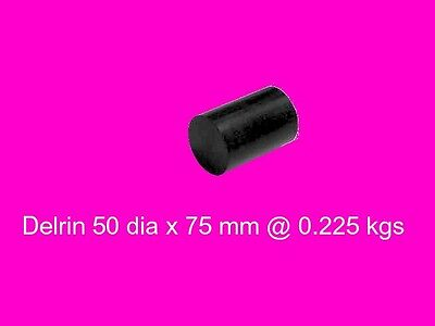 Black Acetal ( Delrin ) 50 dia x 75 mm-Engineering Plastic-Bearing Gear-Bush