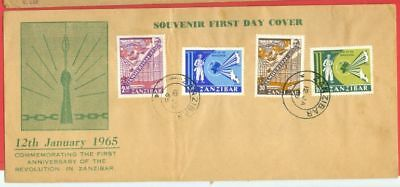 Zanzibar 4 diff stamp used on FDC Cover