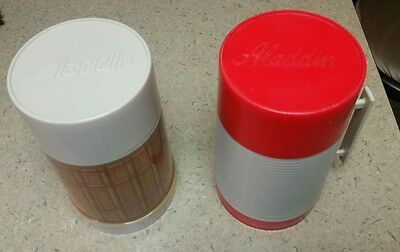 Vintage Alladin Thermos Lot of 2, Lunch, Decor, Liquid Storage