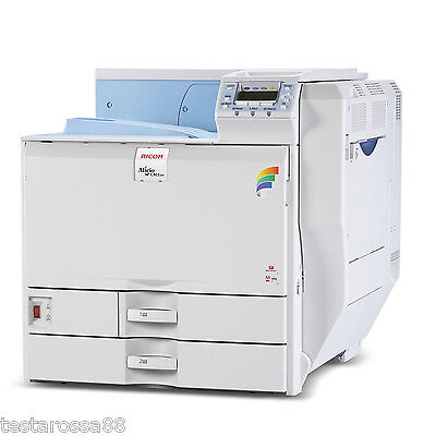 RICOH Aficio SPC811DNL Colour Laser A3 Printer Low PrintsTested & guaranteed