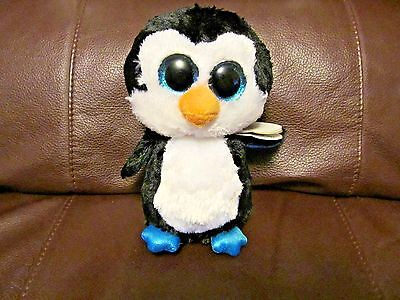 Ty Beanie Boos Waddles The Penguin 6 Inches (NEW) With Heart Tag