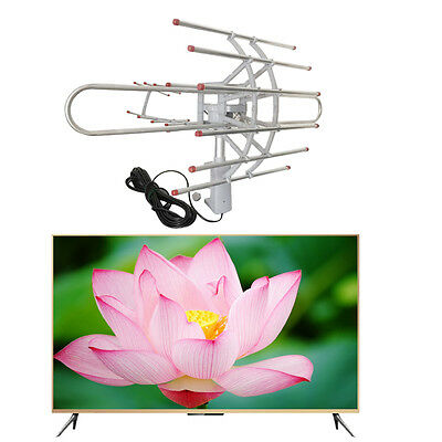 180 Miles HDTV Outdoor Amplified Antenna HD TV Directional UHF/VHF/FM Antenna J0