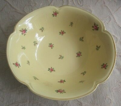 JOHNSON BROS England GOLDENDAWN yellow with ROSE sprigs SERVING BOWL af