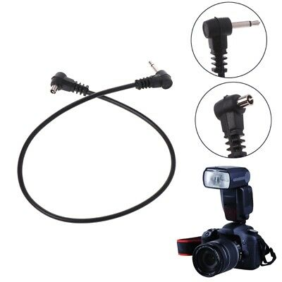 "PC Sync Cables 30cm 12'' 3.5mm 1/8"" Cord Plug Jack for Male Flash Trigger Camera"