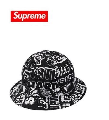 01a957fc4c8 SUPREME   HYSTERIC Glamour Text Bell Hat Black Size M l Bucket ...