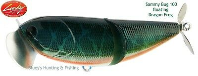 Lucky Craft Sammy Bug 100 floating surface fishing Lure ; Dragon Frog