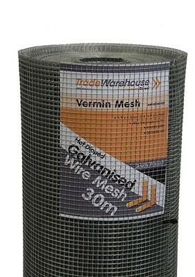 SNAKE VERMIN RODENT Wire Mesh 914mm x 30m Roll.
