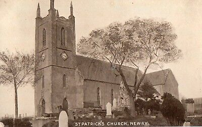 ST. PATRICK'S CHURCH NEWRY CO. DOWN IRELAND RP POSTCARD SIGNAL SERIES sent 1920