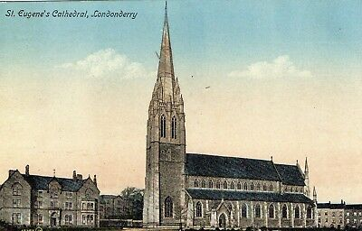 ST. EUGENE'S CATHEDRAL LONDONDERRY DERRY IRELAND  VALENTINES POSTCARD No. 60282