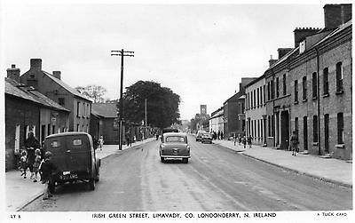 IRISH GREEN ST LIMAVADY LONDONDERRY DERRY IRELAND RP POSTCARD by R TUCK No. LY6