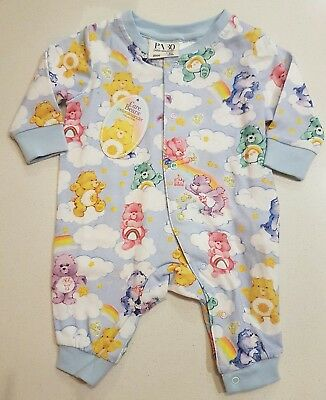 Brand New Peter Alexander Care Bears  Baby Romper Size 0000 0/3Months