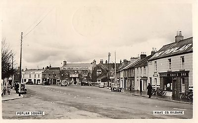 Poplar Square Nass Co. Kildare Ireland Rp Irish Postcard Signal Series Sent 1956