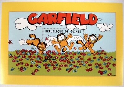 Garfield Stamps Souvenir Sheet Mnh Republique De Guinee Garfield The Cat Comic