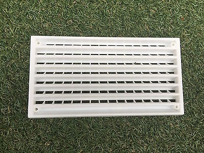 Caravan Air Vent Cover, Plastic Interior White, Brown & Ivory