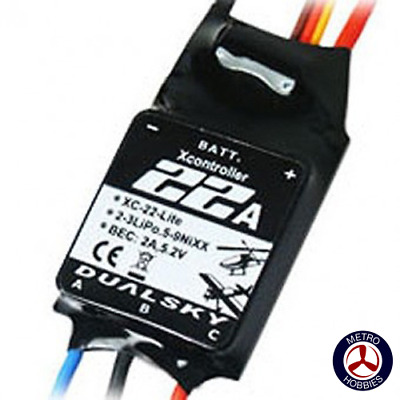 Dualsky ESC 22A 2-3S XC-22-LITE Brushless Speed Controller DSXC22LITE Brand New