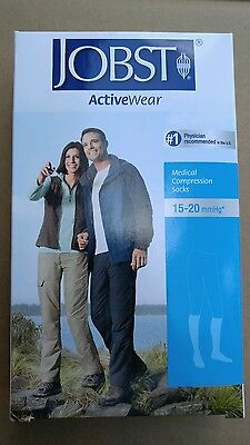 JOBST ActiveWear KNEE HIGH 15-20 mmHg Compression Socks COOL WHITE Unisex SMALL