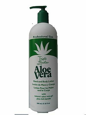 Triple Lanolin Aloe Vera  Hand & Body Lotion 590ml/20oz