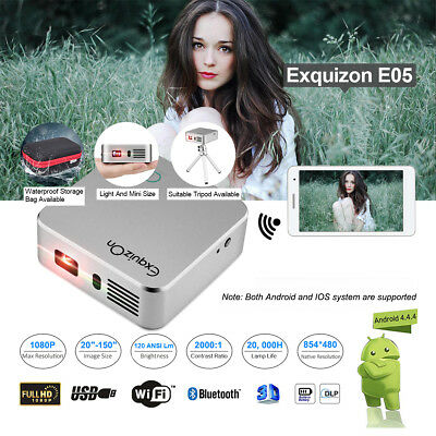 2000:1 1080P 3D DLP Proyector 8G Bluetooth WIFI USB Home Teatro Projector 3000mA