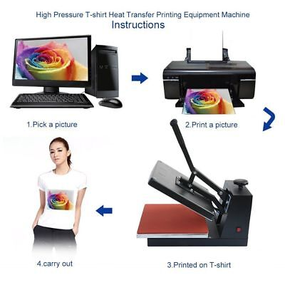 "New 15""x15"" Digital Clamshell Heat Press Machine Transfer Sublimation T-shirt JB"