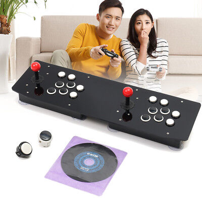 Double Arcade Stick Black Acrylic Console Video Game Joystick Controller For PC