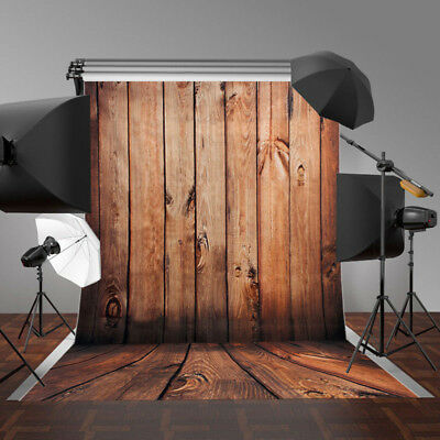 5x7FT Brown Wood Wall Newborn Photography Backdrop Photo Background Studio Props