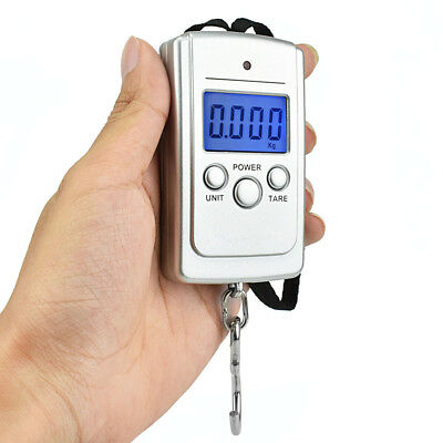 40kg x 10g Mini Scale for Fishing Luggage Travel Hanging Electronic Hook Scale