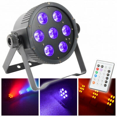 Beamz 151.279 6 in 1 7x8w LEDS multicolour UV Par Uplighter wash with remote