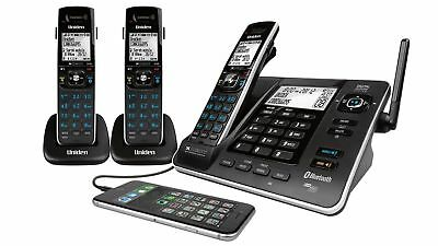 Uniden XDECT8355+2 Power Failure USB Charge Cordless Phone System Black Backlit