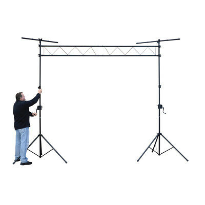 FX Lab NJS064D Steel Lighting Bridge with Winch Stands 3m Span