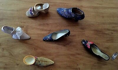 Vintage Miniature Ceramic Shoes And Boots Lot Of 6