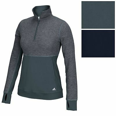 adidas Women's CLIMALITE Twist 1/2 Zip Pullover Tee Athletic Run Fitness Jacket
