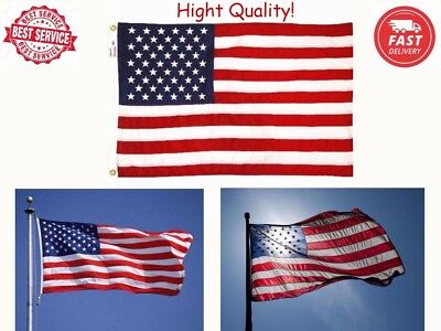 US American Flag 4 X 6 Nylon Embroidered Stars Sewn Stripes Heavy Duty USA Flag